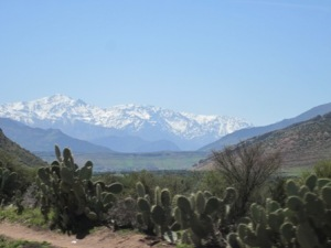 Atlas Mountains over Marrakech